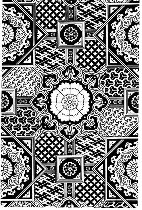 黑白裝飾圖案紋樣