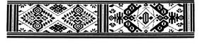 中國古典圖案-幾何形構成的黑白古典圖案