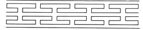 回紋花邊矢量圖