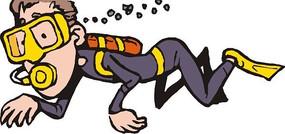 短发潜水员