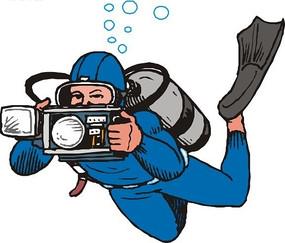 潜水员拍照