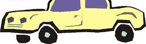 一部米白色小汽车矢量图