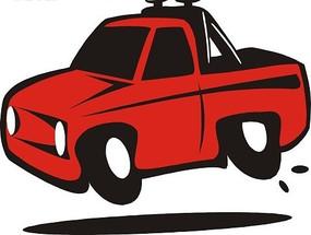一部红色小汽车矢量图