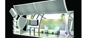 挑檐簡約電子產品展廳3dmax模型
