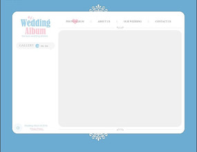 欧美简洁婚纱相册网页模板