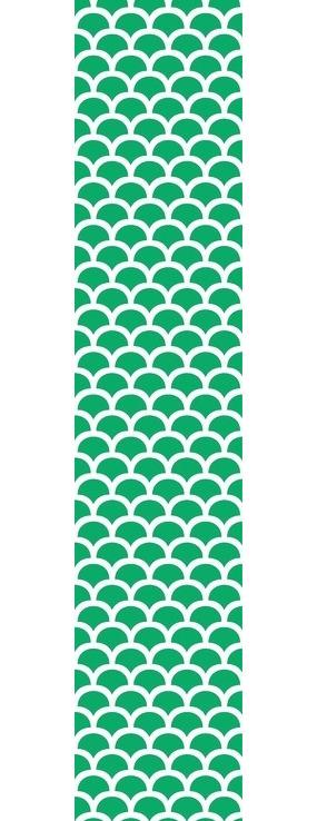 绿色波浪花纹矢量图