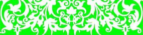 绿色对称的镂空花纹矢量图