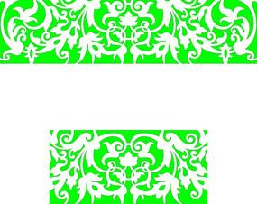 对称的绿色镂空花纹矢量图
