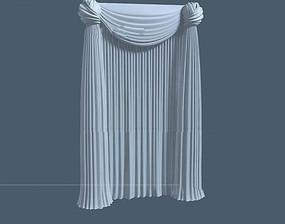 球形帘头的欧式窗帘3dmax模型