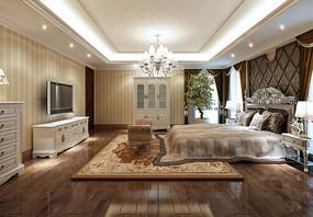欧式奢华大卧室3dmax模型