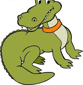 手绘一只可爱的小鳄鱼