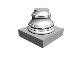 欧式石膏罗马柱3d模型 max
