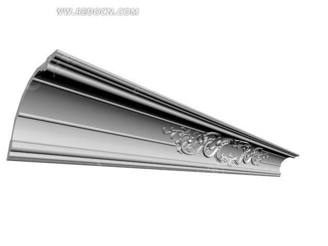 局部浮雕花纹阴角线3dmax模型