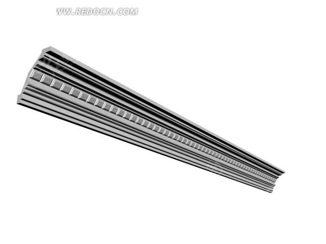 中间方格石膏阴角线3dmax模型图片