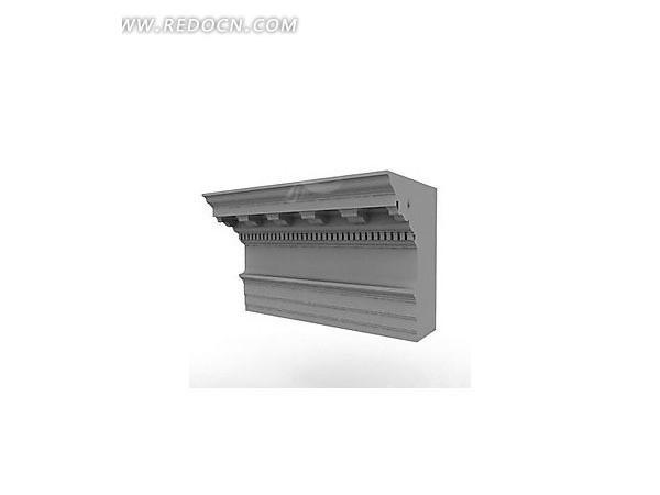 欧式直角石膏阴角线3dmax模型图片