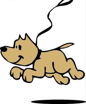 儿童手绘可爱的小狗狗
