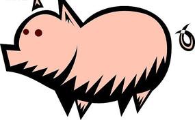 儿童手绘可爱的小猪