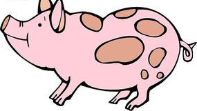 可爱的小猪手绘素材