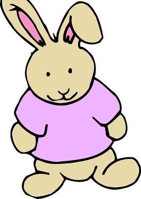 儿童绘画一只可爱的小兔兔