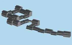 中国古代建筑群3D模型