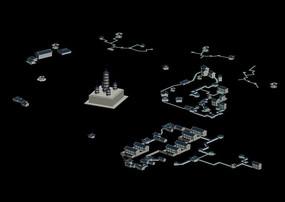中国古代建筑群(五峰塔)3D模型