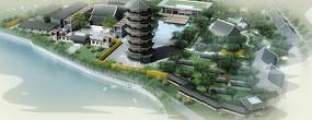 中国古代建筑七层塔(中国古代建筑旅游景点)3D模型
