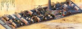 中国古代建筑塔与房屋的3D模型