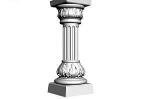 凸肚柱礎羅馬柱3D模型