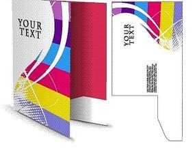 彩色立体效果文件夹EPS矢量文件