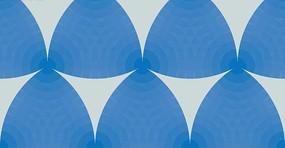米白色背景上圆环的蓝色三角形图案