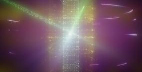 光影背景视频 旋转的紫色闪烁的星光