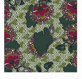 手绘红色花朵和绿叶背景素材