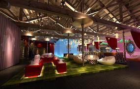 室内设计效果图--西式婚房风格婚礼用品专营店