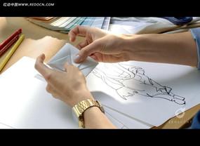 手绘折纸动画人物视频