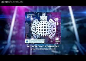 国外logo紫色光效视频