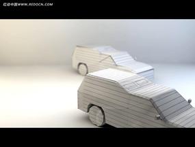 立体纸汽车视频