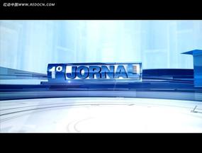 蓝色简约国外logo视频