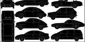 107款不同车型的汽车跑车矢量图