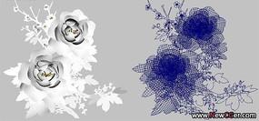 牡丹花Maya模型无贴图