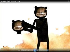 换头卡通人物动画视频
