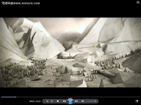 折纸山峰山谷动画视频