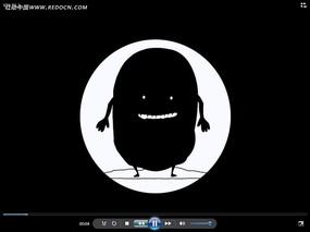 黑白卡通人物視頻