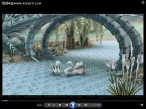 折纸天鹅拱桥视频