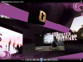 紫色时尚影视片头视频