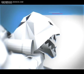 3D折纸人物造型视频