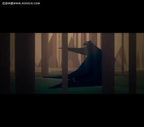 树林大熊折纸动画视频
