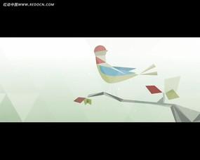 折纸小鸟动画视频