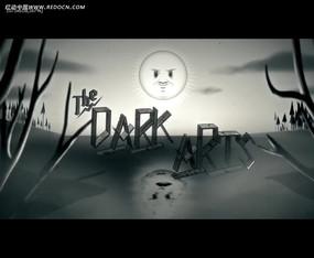 黑白卡通動畫視頻