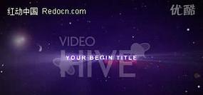 紫色文字光效背景视频