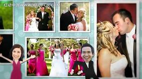 卡通国外婚礼背景视频